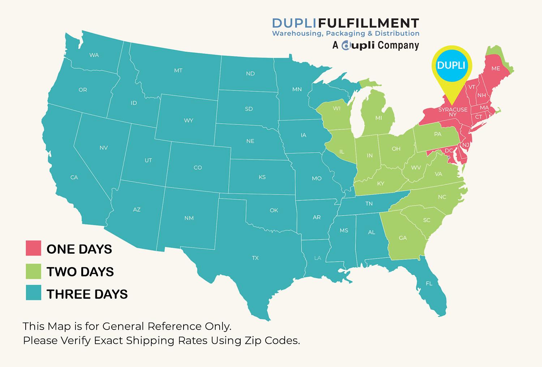 Dupli Fulfillment Map